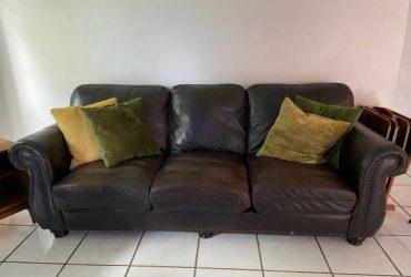 Free Brown leather sofa (Palm harbor)