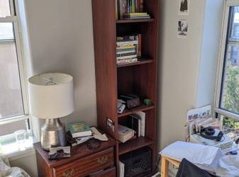 Wooden bookcase and nightstand (Bedford Stuyvesant)