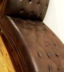 free chaise leather lounge chair (ashley furniture) (Woodhaven)