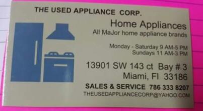 NEED APPLIANCE / REFRIGERATION TECHNITIAN (Miami)
