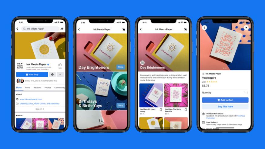 Facebook Shops una opción para vender en la red social