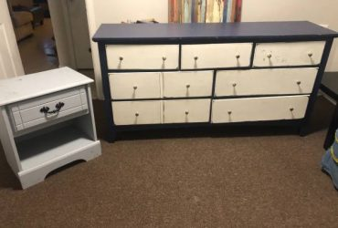 Dresser and nightstand (need paint) (Largo)