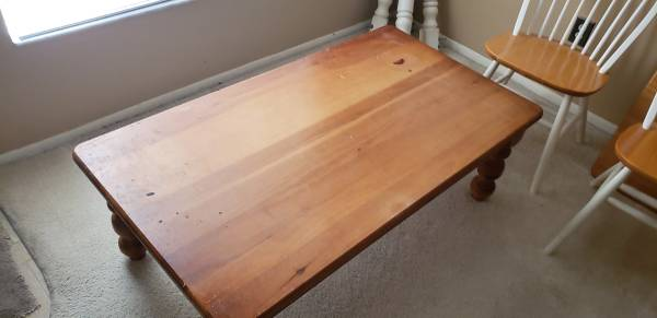 free table 3 chairs, end tables, bar stools, mattress and boxsprings (orlando)