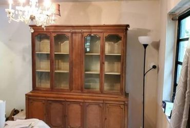 China cabinet and king size backboard (North Miami)