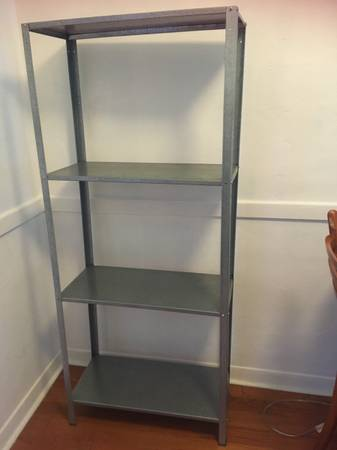 Metal standing shelves and TV stand (South Beach)
