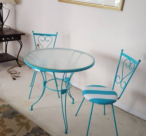 Wrought iron bistro table (Clearwater Beach)