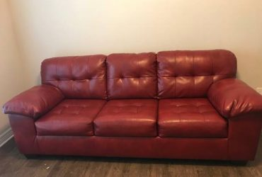 Free red couch (Houston)