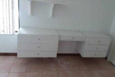 Free white office desk hutch and chest (Estancia West Boca Raton)