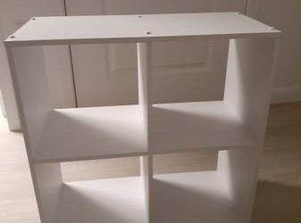 White cube bookcase (West Palm Beach)