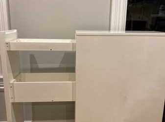 Free high side table w/drawers (Crown Heights, Brooklyn)