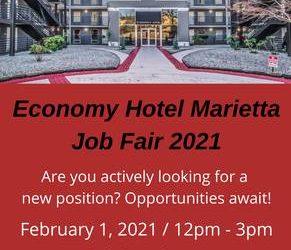 JOB FAIR – Economy Hotel Marietta (Marietta)