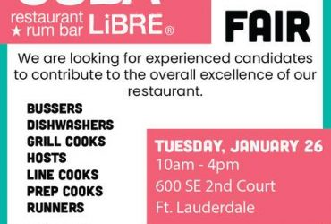 Restaurant Job Fair (Las Olas Blvd)
