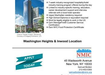 Training/Jobs in Hospitality (Inwood / Wash Hts)