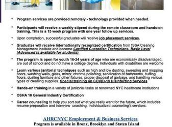 FREE PAID TRAINING-become a custodial technician TODAY!! (Staten Island)