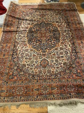 CURB ALERT!! — Vintage Woven Oriental Rug