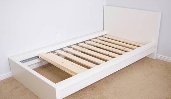 Ikea Malm Bed Frame + Slats TWIN (Hollywood)