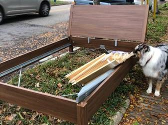 Full/double bed frame and headboard (Woodland Heights)
