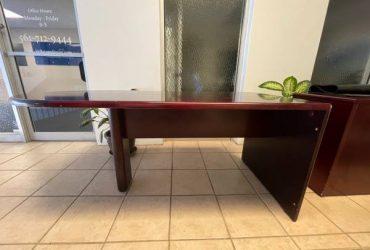 Free Desk, L Shape, Solid Dark Wood (North Palm Beach)