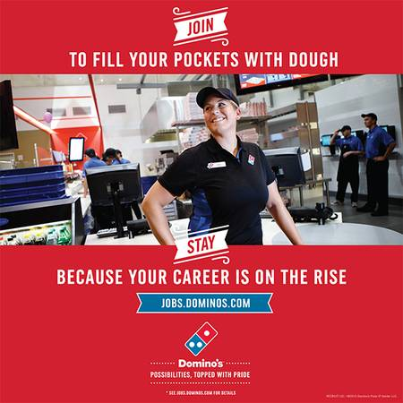 DOMINO'S PIZZA–DRIVERS WANTED (Suncoast/Lutz)