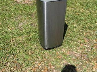 Stainless Steel Trashcan – curb alert (Apopka)