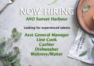Cashiers/Line Cooks/Dishwasher Wanted (Miami Beach)