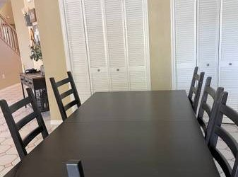 IKEA black table and chairs (Countryway)