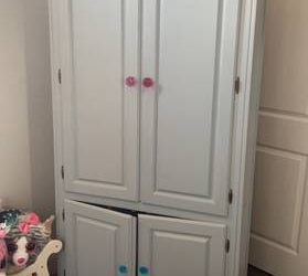 Blue wood armoire (Parkland)