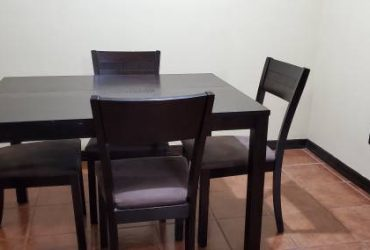 Free wooden dinning table with 4 chairs (Cutler bay)