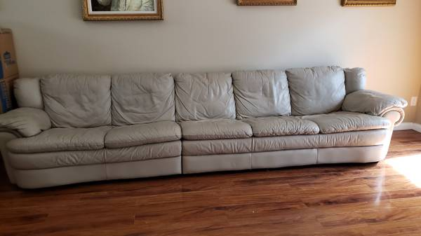 Two Piece Leather Sectional Sofa – long (Acreage/West Palm Beach)