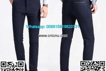 Business Slim Fit Check Plaid Suit Pants Plaid Trousers Mens