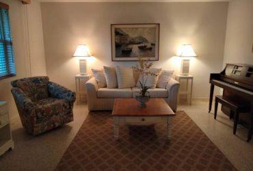 Off-white sleeper sofa (WEST PALM BEACH)